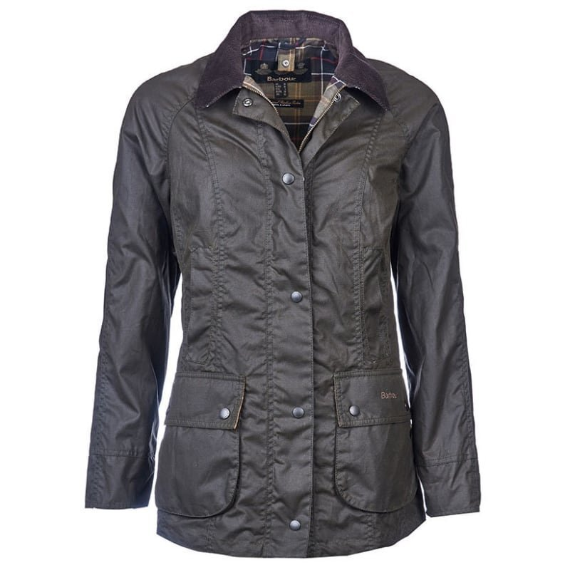 Barbour Classic Beadnell Wax Jacket UK 14 / EU 40 Olive