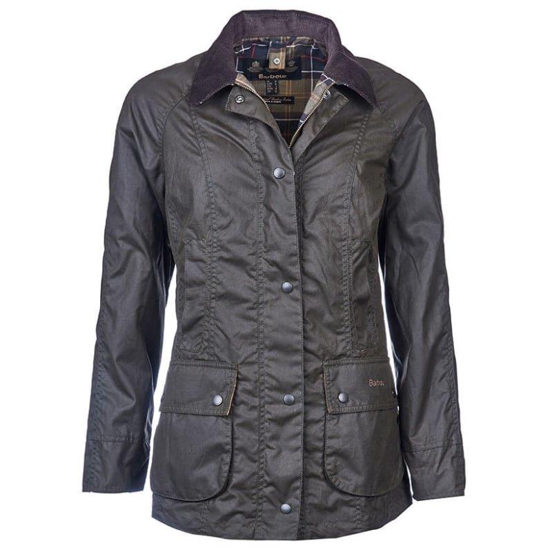 Barbour Classic Beadnell Wax Jacket UK 14 / EU 40 Olive