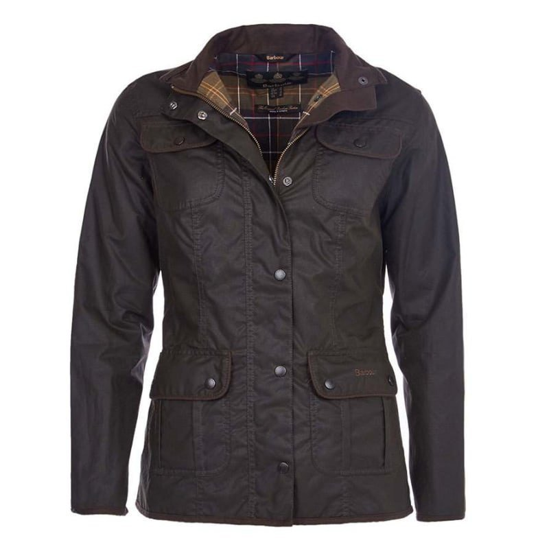 Barbour Ladies Utility Jacket UK 8 / EU34 OLIVE