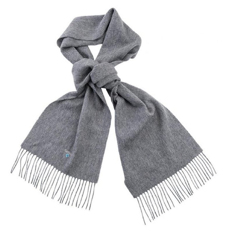 Barbour Plain Lambswool Scarf 1 Light Grey Marl