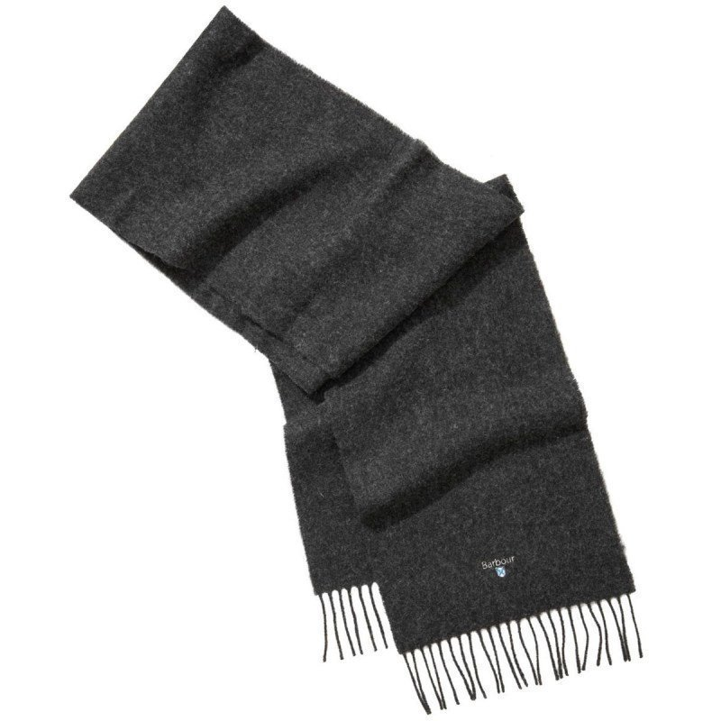 Barbour Plain Lambswool Scarf 1SIZE Charcoal/Grey