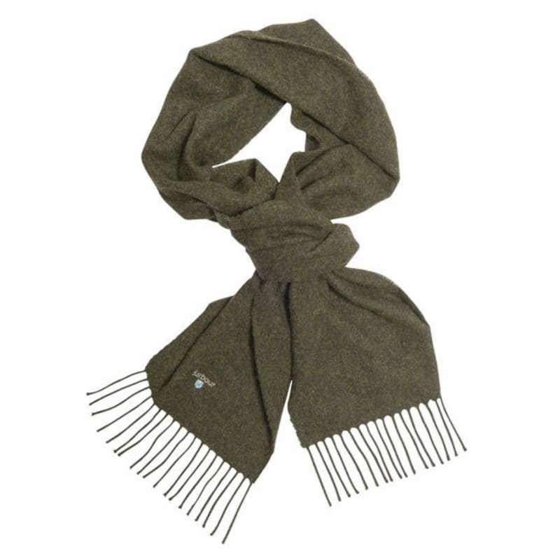 Barbour Plain Lambswool Scarf 1SIZE Seaweed