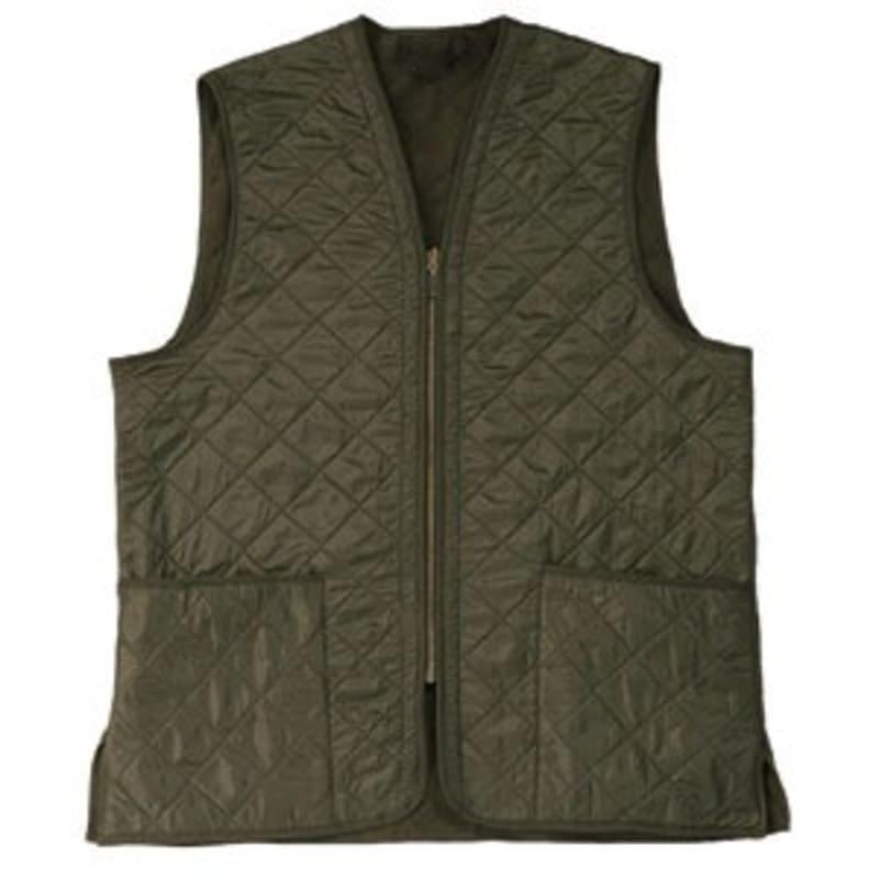 Barbour Polarquilt Waistcoat Zip-In XS DK OLIVE