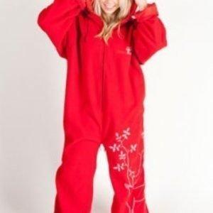 Basic Nature fleece makuupussi/oloasu punainen