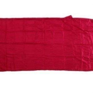 Basic Nature silkkinen makuupussin sisäpussi punainen