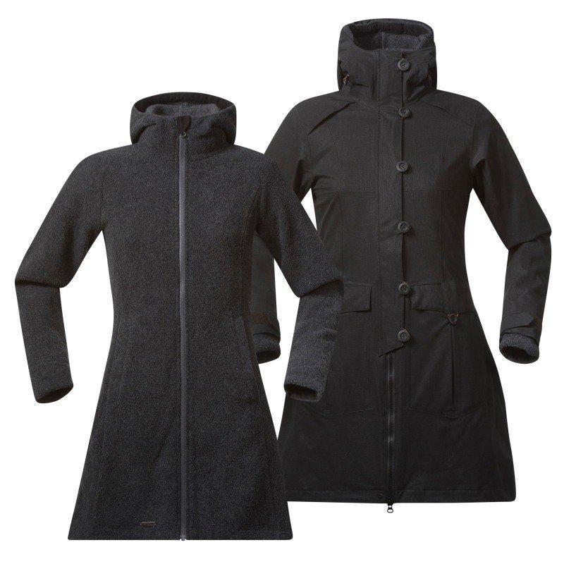 Bergans Bjerke 3in1 Lady Coat XL Outer:Black/Inner:SolidDkGrey