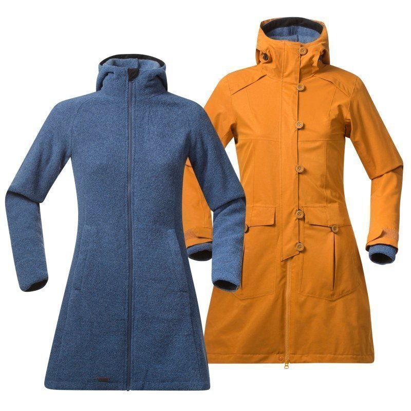 Bergans Bjerke 3in1 Lady Coat XS Outer:Desert/Inner:Dusty