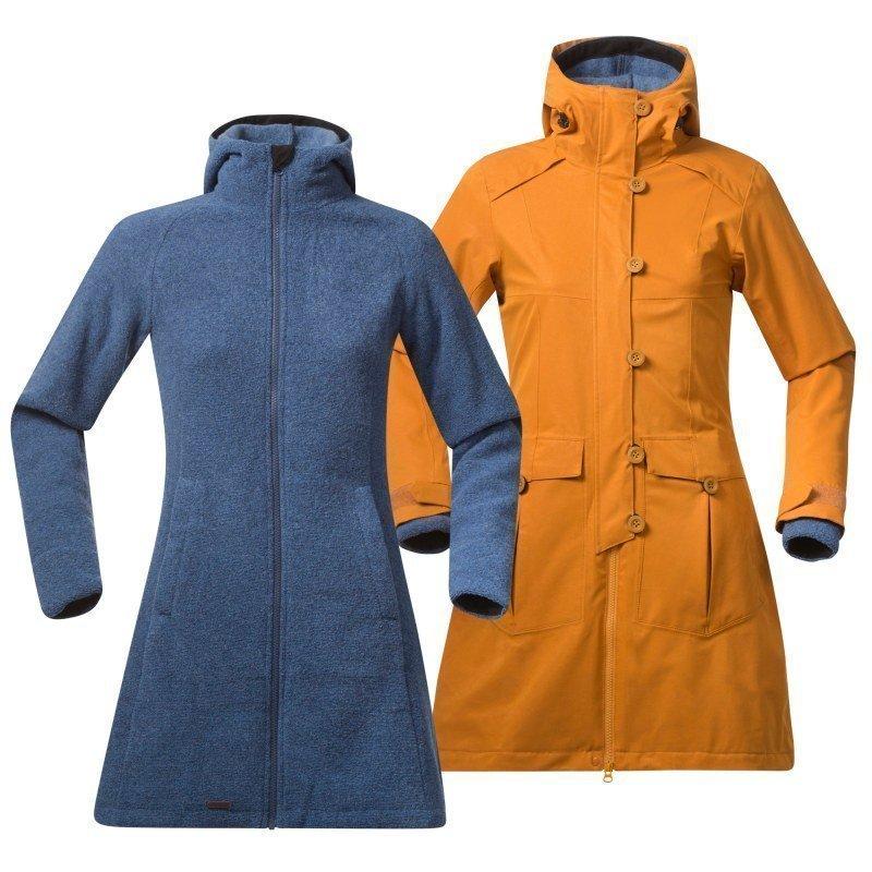 Bergans Bjerke 3in1 Lady Coat XS Outer:Desert/Inner:Dusty