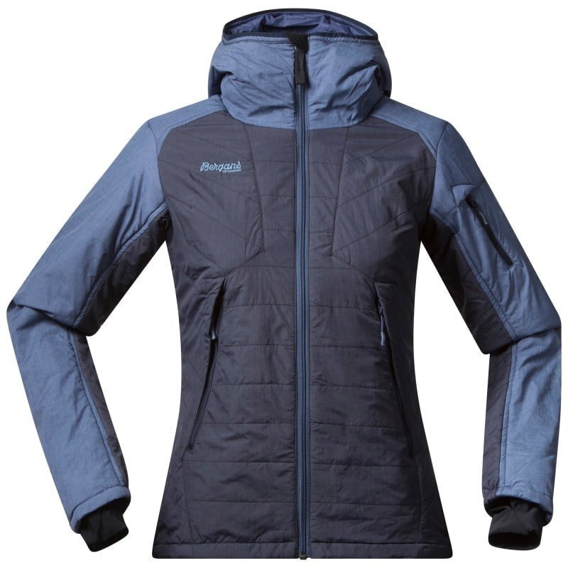 Bergans Bladet Insulated Lady Jacket S Midnight Blue/Dusty Blue