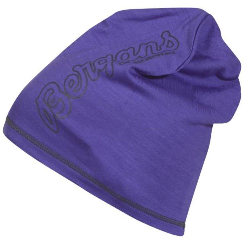 Bergans Bloom Wool Beanie ONE SIZE Funkypurple/Night Blue