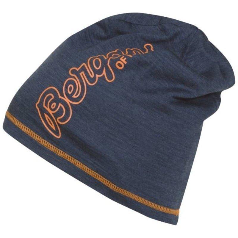 Bergans Bloom Wool Beanie ONE SIZE Navy Melange/Pumpkin