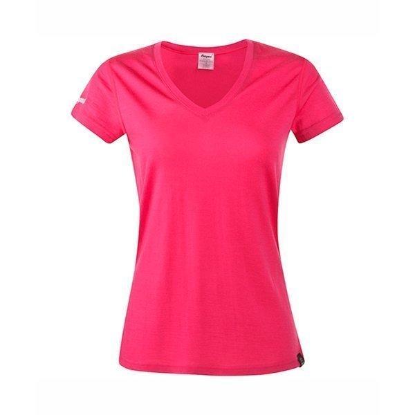 Bergans Bloom naisten t-paita merinovilla pinkki