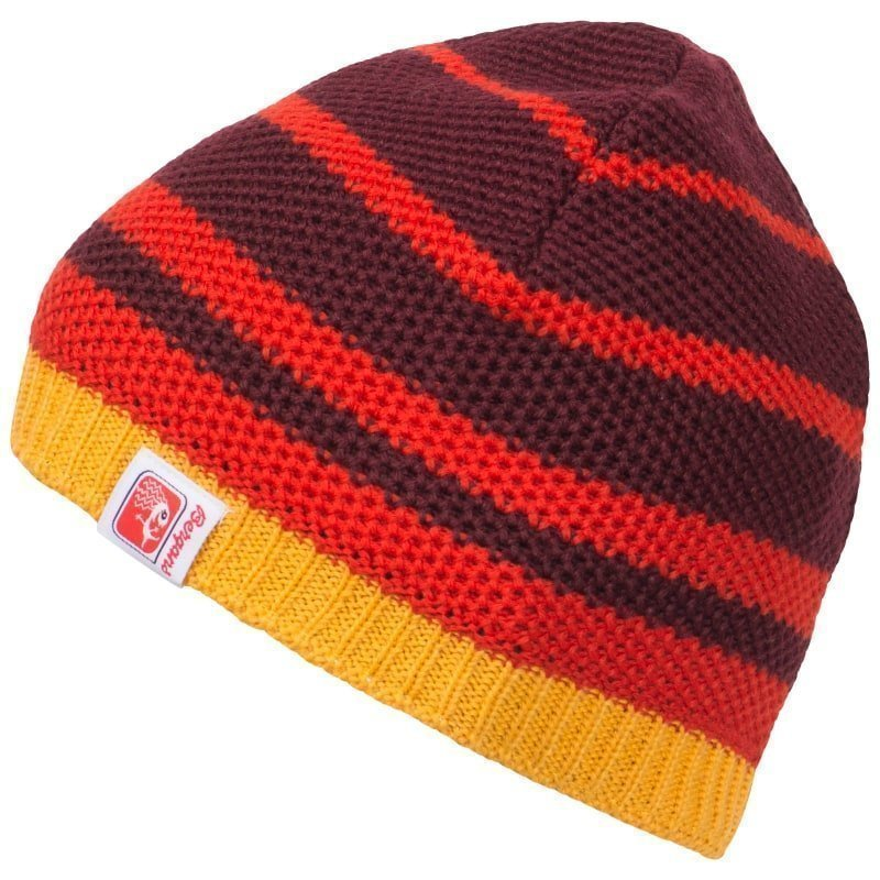 Bergans Cecilie Beanie ONE SIZE Wine/Br Red/Sunflower