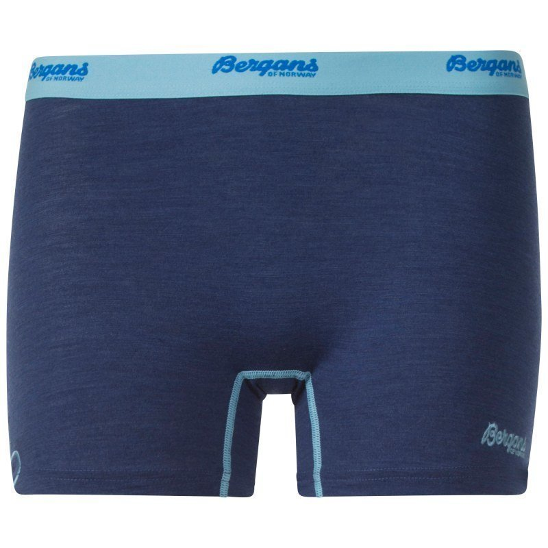 Bergans Cecilie Wool Boxer L Inkblue Mel/Ice