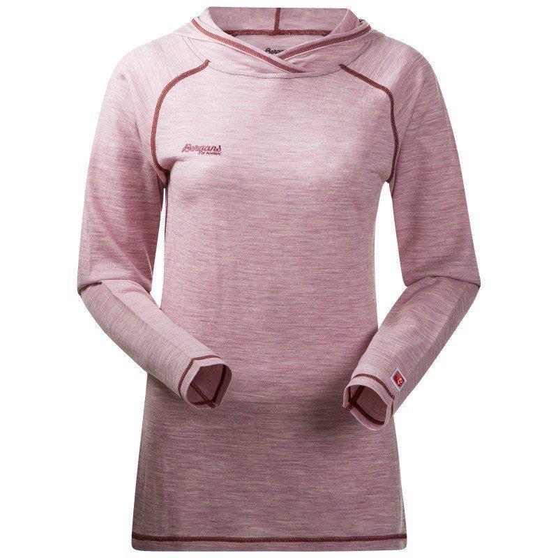 Bergans Cecilie Wool Shirt w/Hood M Wineberry Mel