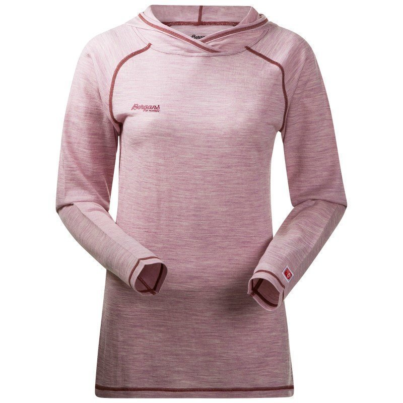 Bergans Cecilie Wool Shirt w/Hood XL Wineberry Mel