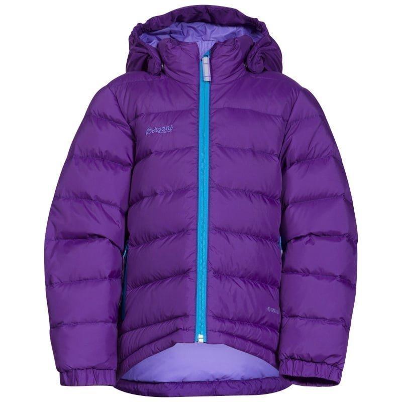 Bergans Down Kids Jacket 110 Lavender/Br Seablue