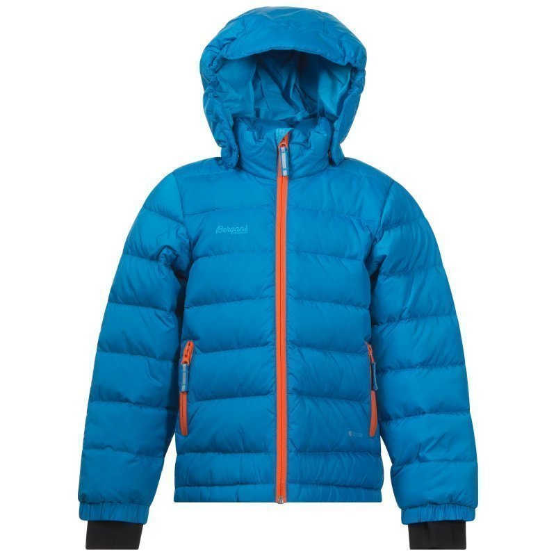 Bergans Down Kids Jacket 110 Lt Seablue/Koi Orange