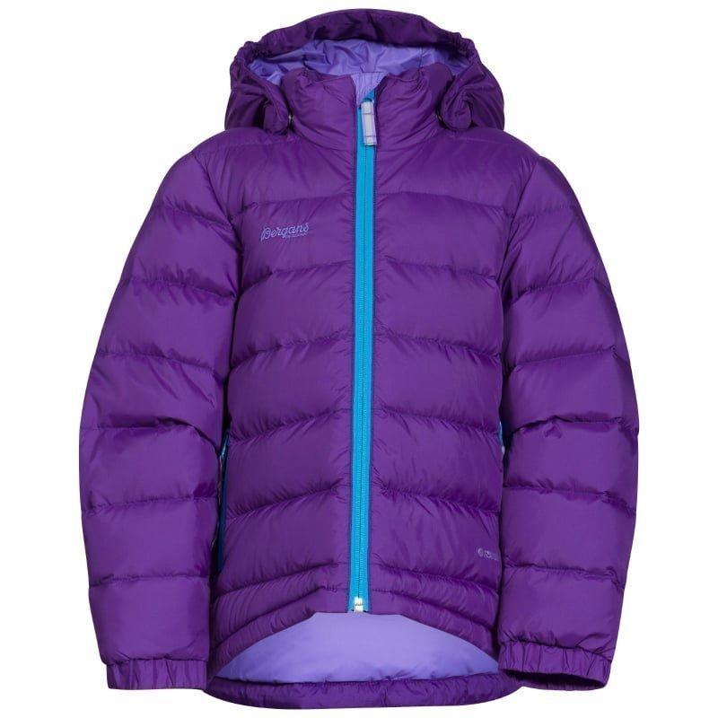 Bergans Down Kids Jacket 116 Lavender/Br Seablue
