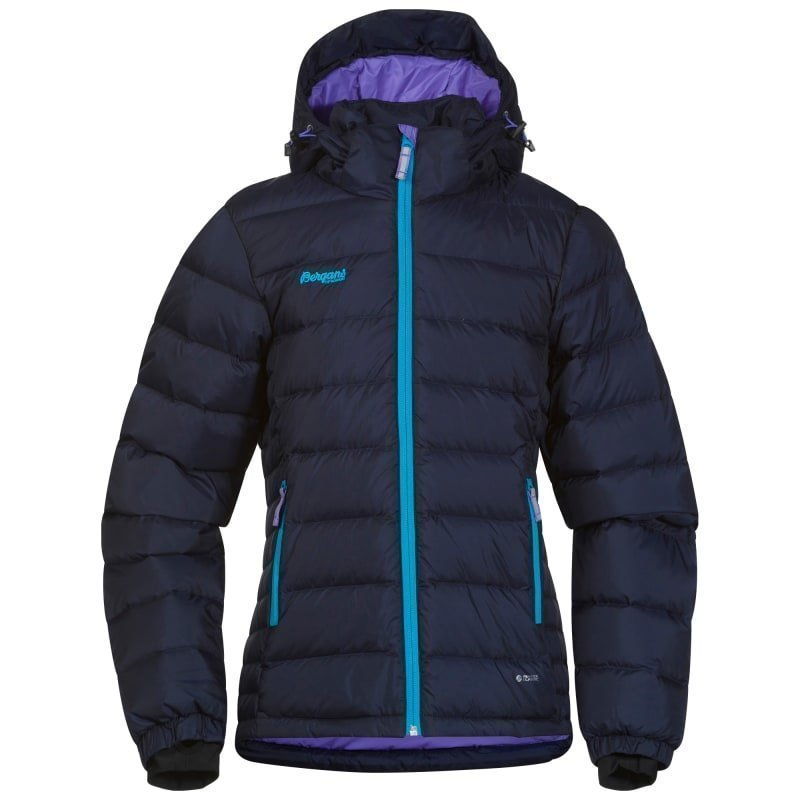 Bergans Down Youth Girl Jacket 164 Navy/Br Seablue/Lt Lavender