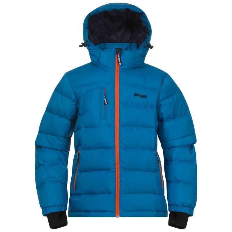 Bergans Down Youth Jacket 164 Lt Seablue/Koi Orange/Navy
