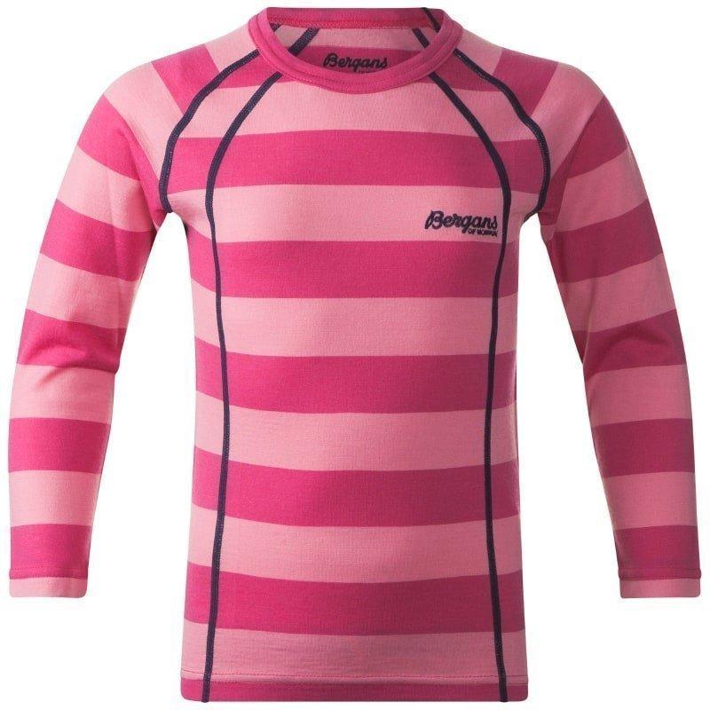 Bergans Fjellrapp Kids Shirt 122 Lollipop Striped