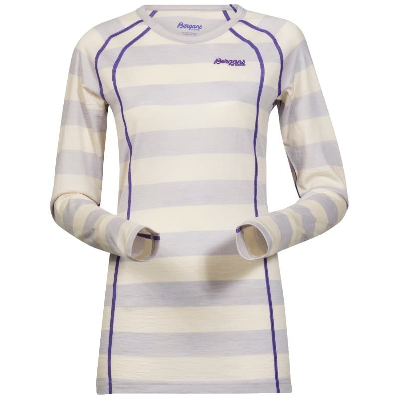 Bergans Fjellrapp Lady Shirt L White Striped/FunkyPurple