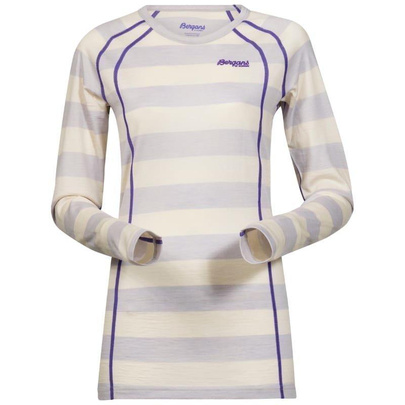 Bergans Fjellrapp Lady Shirt L White Striped/FunkyPurple