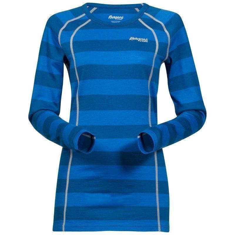 Bergans Fjellrapp Lady Shirt XL Ocean Striped/Alu