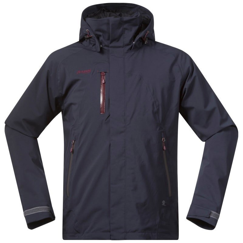 Bergans Flya Insulated Jacket S Midnightblue/Soliddarkgr/Dk Ru