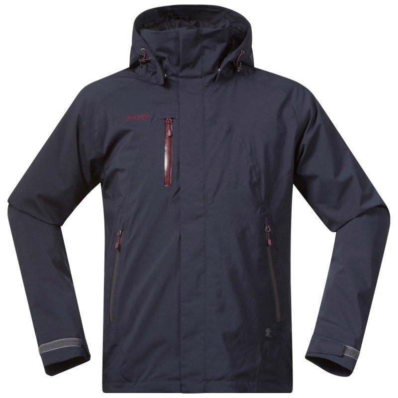Bergans Flya Insulated Jacket XL Midnightblue/Soliddarkgr/Dk Ru