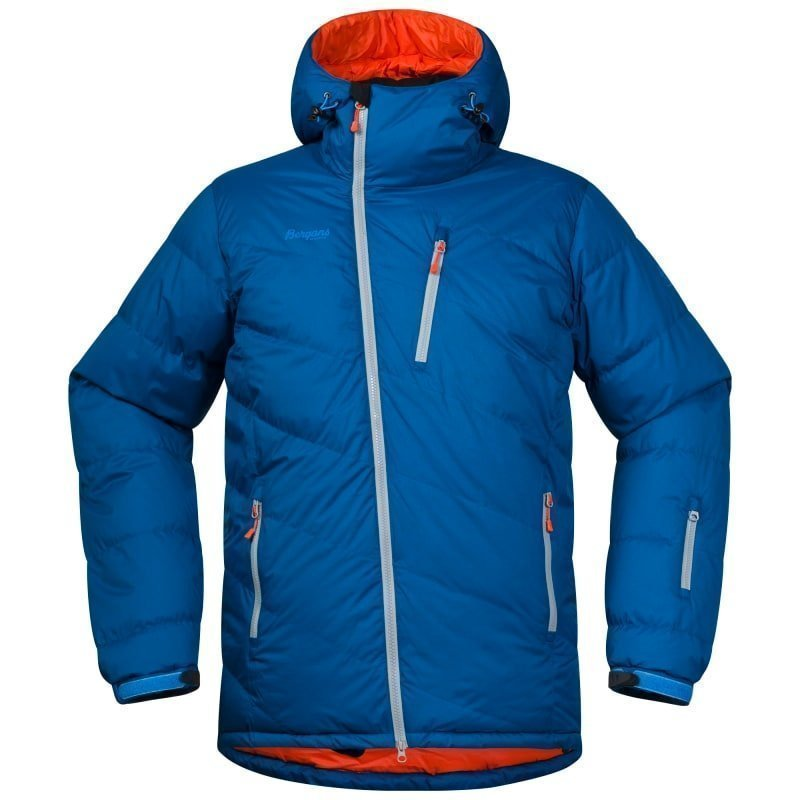 Bergans Fonna Down Jacket L Ocean/Koi Orange/Solid Lt Grey