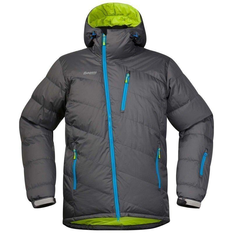 Bergans Fonna Down Jacket L Solid Dk Gr/Springleaves