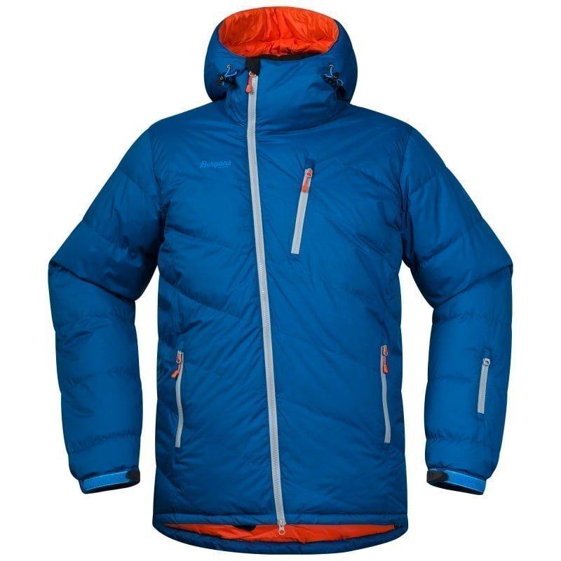 Bergans Fonna Down Jacket XL Ocean/Koi Orange/Solid Lt Grey