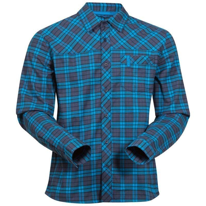 Bergans Granvin Shirt M Navy/Seablue Check
