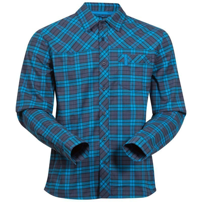 Bergans Granvin Shirt XL Navy/Seablue Check