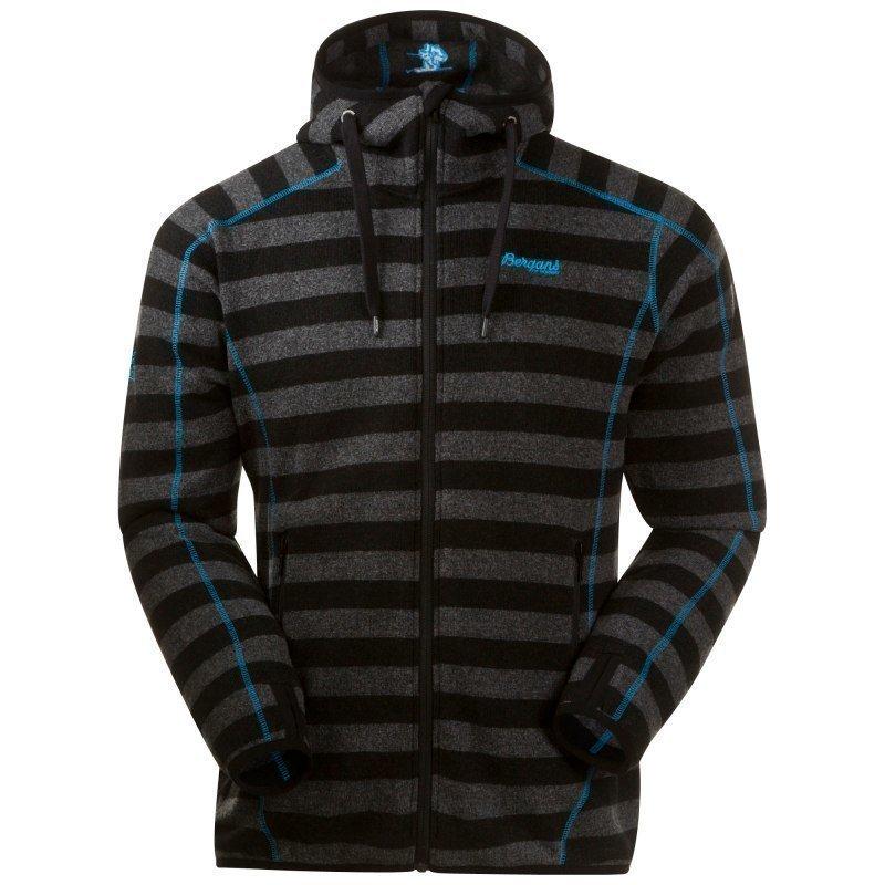 Bergans Humle Jacket L Dk Grey Striped/Sea Blue