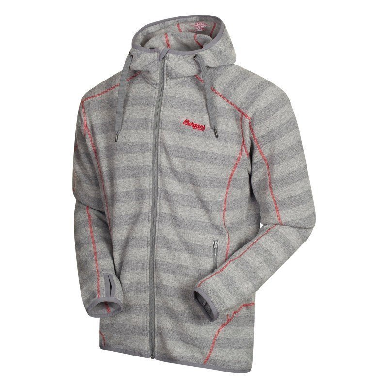Bergans Humle Jacket XL Grey Striped/Red