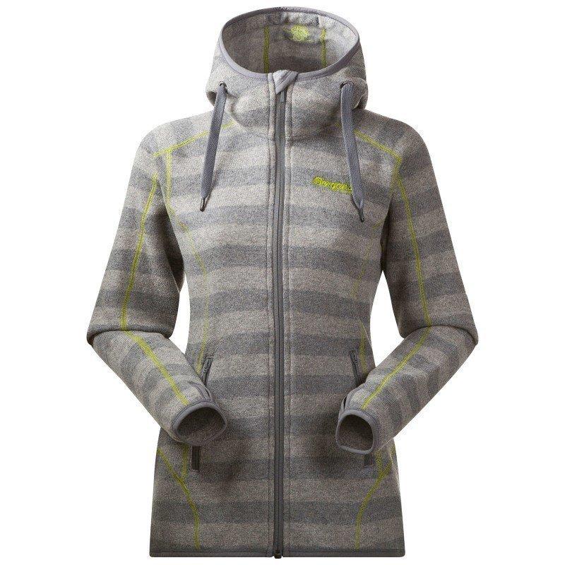 Bergans Humle Lady Jacket S Grey Striped/Lime