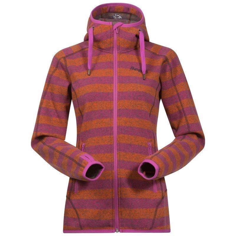 Bergans Humle Lady Jacket S Koi Orange/Pink Rose Striped