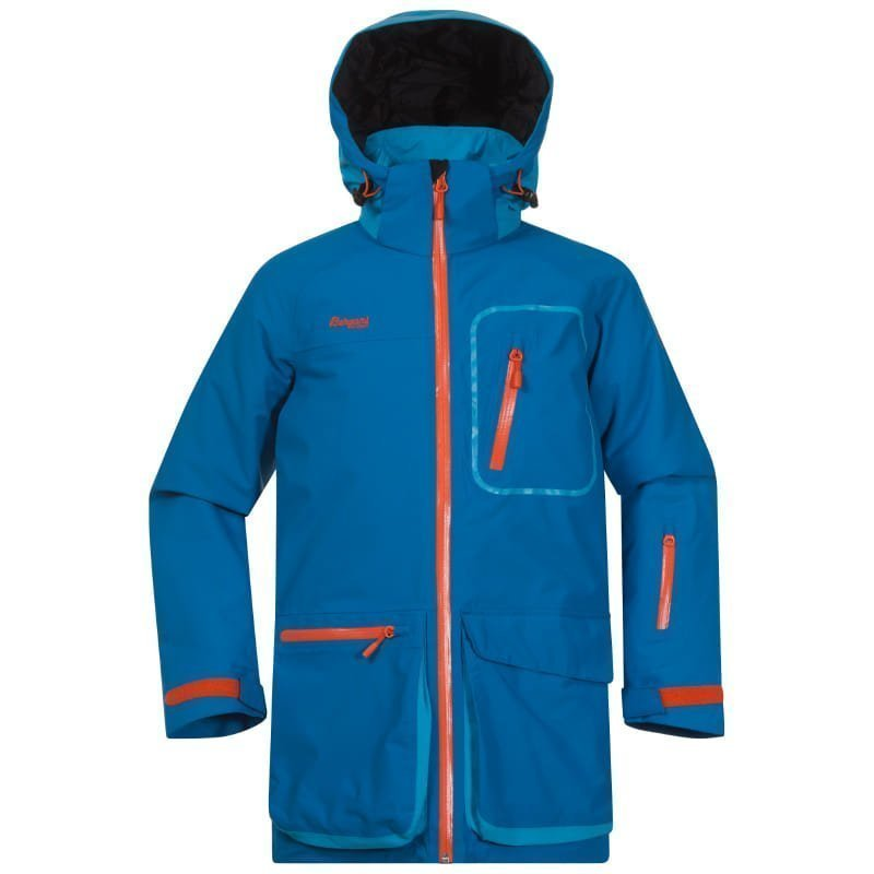 Bergans Knyken Insulated Youth Jacket 128 Lt Seablue/Br Seablue/Koi Oran