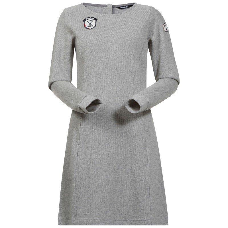 Bergans Kollen Wool Lady Dress L Grey Mel