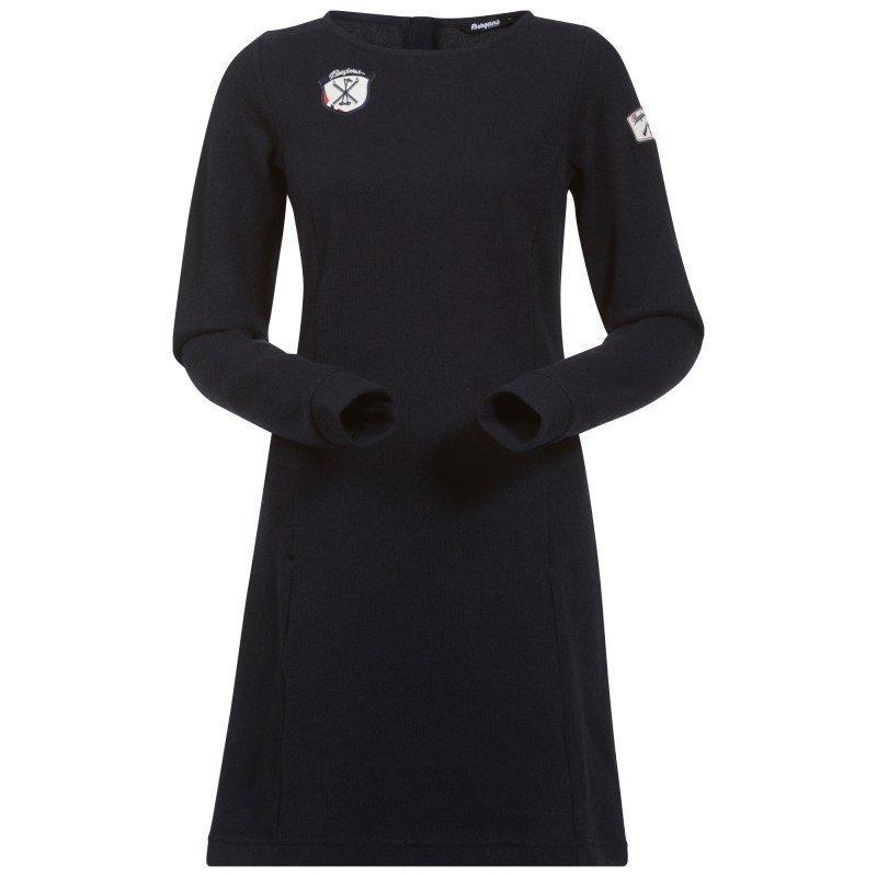 Bergans Kollen Wool Lady Dress S Navy