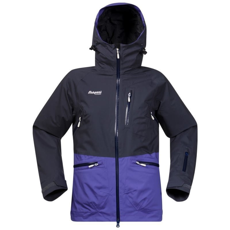 Bergans Myrkdalen Insulated Lady Jacket L Nightblue/Funkypurple/White