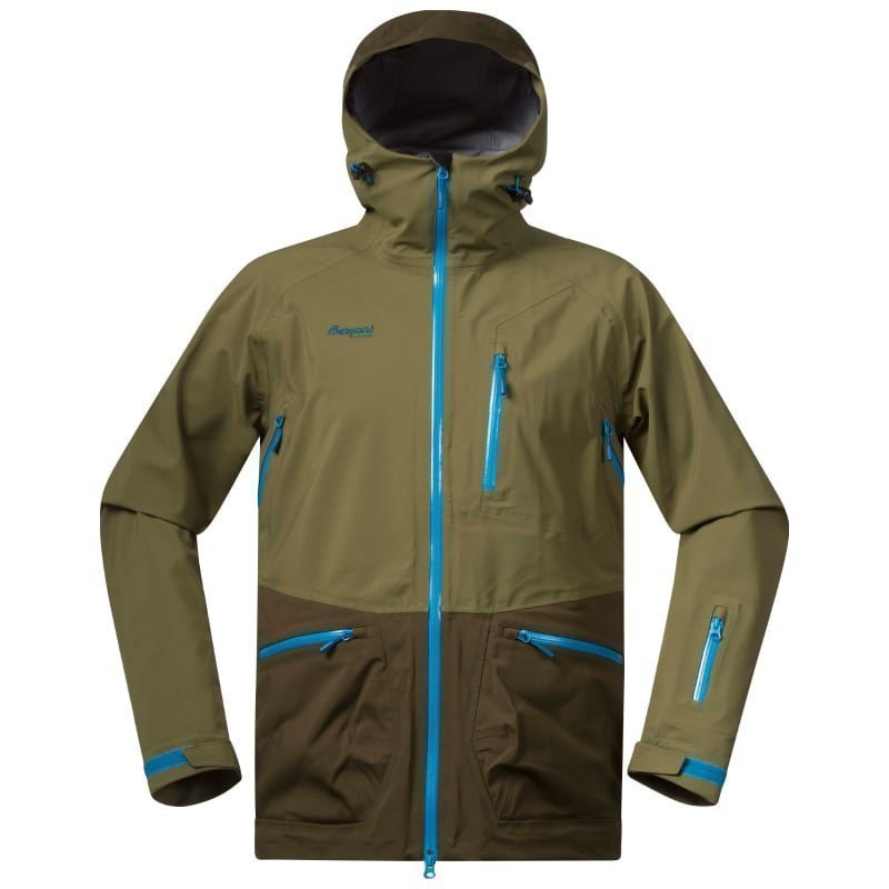 Bergans Myrkdalen Jacket M KhakiGreen/ArmyGreen/Lt Seablu