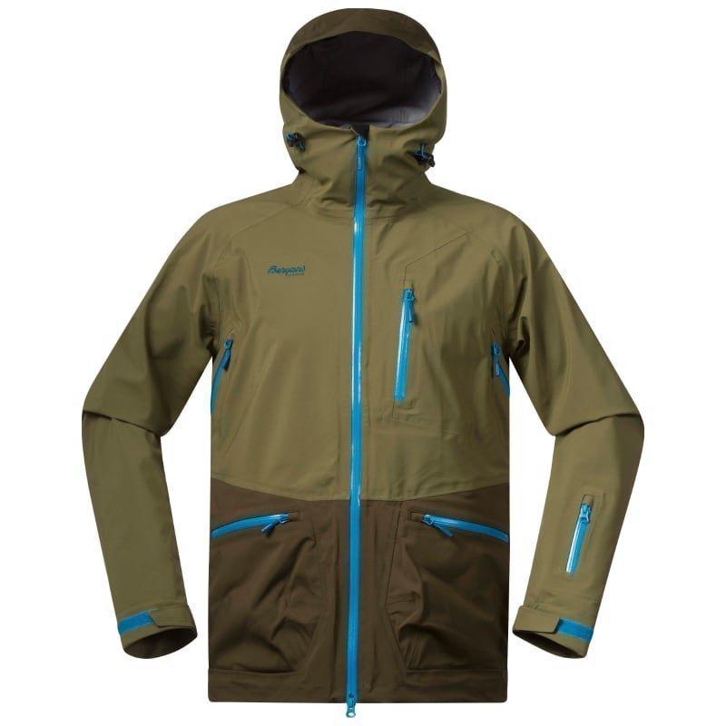 Bergans Myrkdalen Jacket XL KhakiGreen/ArmyGreen/Lt Seablu