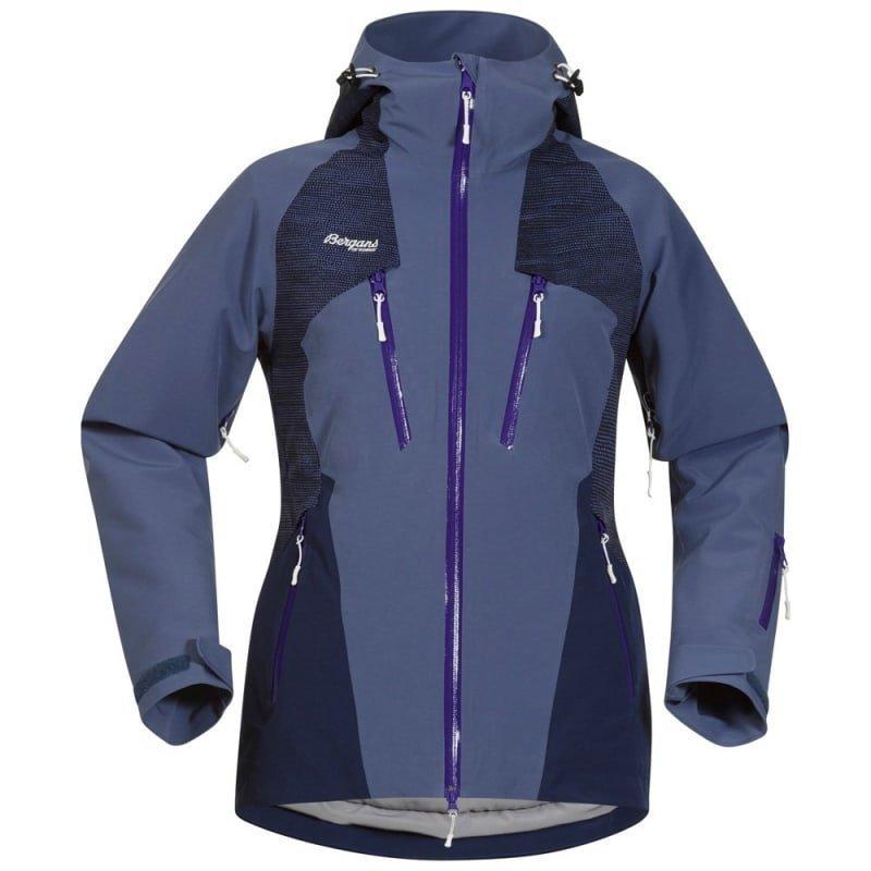Bergans Oppdal Insulated Lady Jacket L Dusty Blue/Navy/Funky Purple
