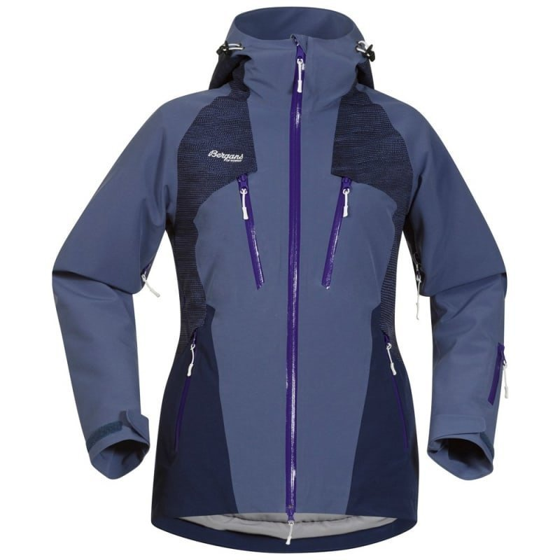 Bergans Oppdal Insulated Lady Jacket XS Dusty Blue/Navy/Funky Purple