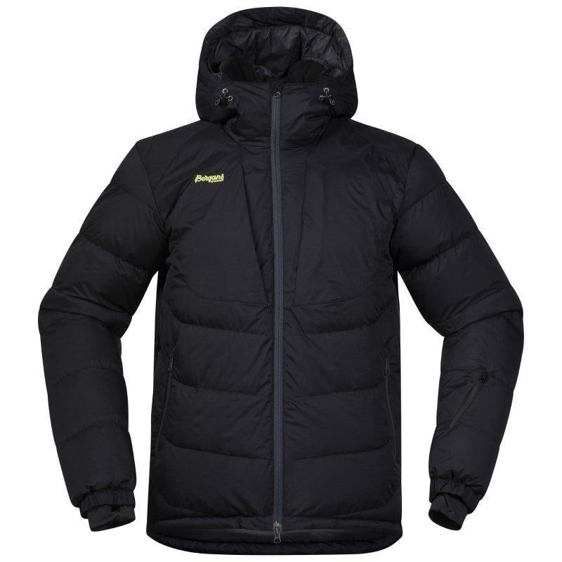 Bergans Sauda Down Jacket L Black/SolidCharcal/SpringLeav
