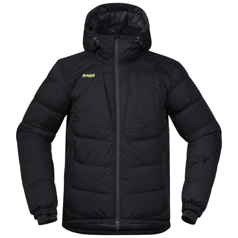 Bergans Sauda Down Jacket S Black/SolidCharcal/SpringLeav